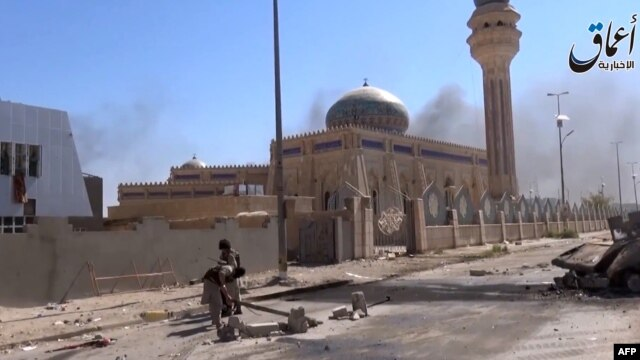 عکس از شهر رمادی پس از تصرف ان توسط گروه حکومت اسلامی.