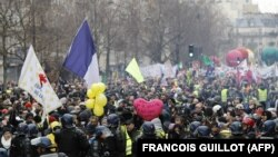 Protestul din Paris, 4 ianuarie 2020
