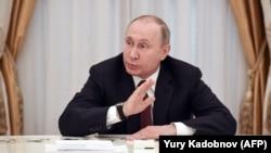 Ռուսաստանի նախագահ Վլադիմիր Պուտինը հանդիպում է ընտրություններում իր մրցակիցների հետ, Մոսկվա, Կրեմլ, 19-ը մարտի, 2018թ․