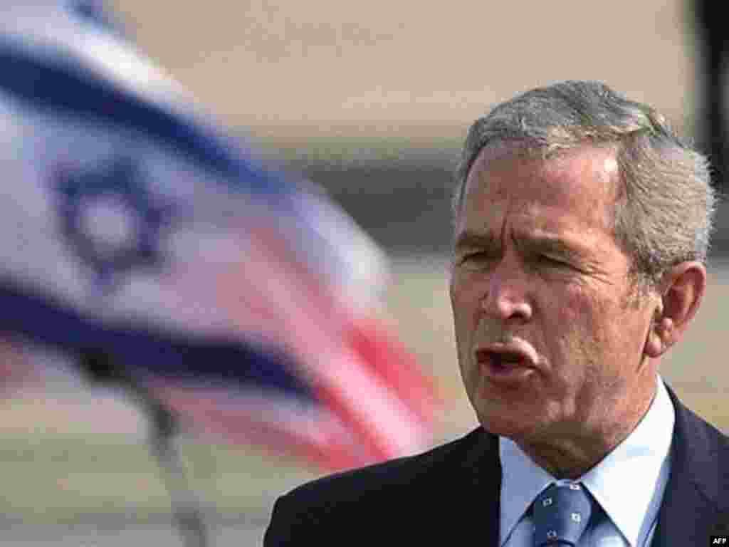 Приветственная речь Буша. Аэропорт Бен-Гурион, Тель-Авив, 9 января 2008.