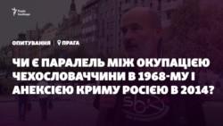 Опрос из Праги: Оккупация Чехословакии и аннексия Крыма. Есть ли параллели?