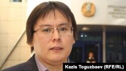 «Рух пен тіл» қозғалысының жетекшісі Жанболат Мамай. Алматы, 23 қыркүйек 2013 жыл.