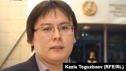 Қазақстандық белсенді, журналист Жанболат Мамай. Алматы, 23 қыркүйек 2013 жыл.