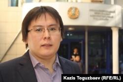 Жанболат Мамай, главный редактор газеты «Ашық алаң». Алматы, 23 сентября 2013 года.