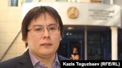 Жанболат Мамай, главный редактор газеты «Ашық алаң» («Трибуна»). Алматы, 23 сентября 2013 года.