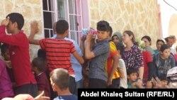 Єзиди, які покинули домівци після захоплення ісламістами міста Сінджар, 4 серпня 2014