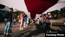 Жаночы марш у падтрымку дэмакратычнай Беларусі, Рыга, 10 кастрычніка 2020