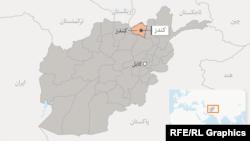 موقعیت کندز در نقشه افغانستان