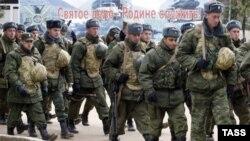 Российские военнослужащие в абхазской Гудауте