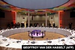Dineul de lucru al liderilor UE de duminică, care s-a prelungit ore în șir, fără rezultat, Bruxelles, 30 iunie, 2019