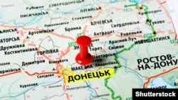 Донецкая область на карте Украины.