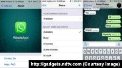 Whatsapp-ın iPhone üçün yeni versiyası.