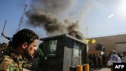 Protest ispred Ambasade SAD u Bagdadu