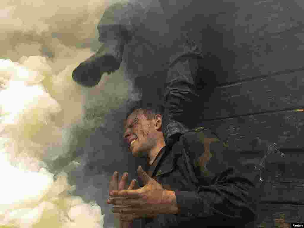 Тренування білоруського спецназу, 1 червня. Photo by Vasily Fedosenko for Reuters