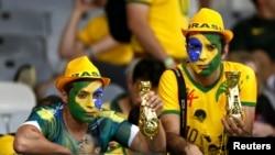 Фанаты сборной Бразилии на чемпионате мира по футболу в 2014 году.