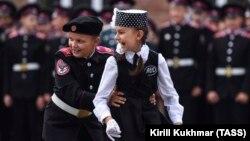 Пачатак навучальнага году ў школе кадэтаў у Новасыбірску