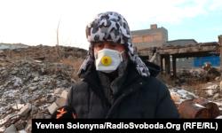 Максим Бахматов під час відвідування руїн заводу «Радикал». Київ, грудень 2019 року