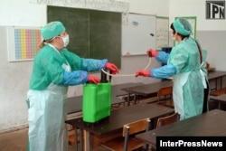 Дизинфекция школьного класса от стафилококков, Грузия