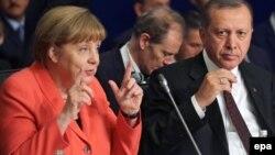 А.Меркель и Р.Т.Эрдоган