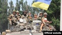 Pamje e ushtarëve të Ukrainës