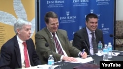 "Ryan Crocker, Glen Howard, Abubakar Siddique - ""The Pashtun Question"" launch at JHU SAIS"