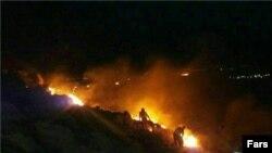 آتشسوزی در طاق بستان