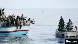 Жерорта теңізіндегі мигранттарды құтқару операциясы. (Көрнекі сурет).