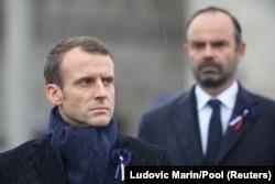 Președintele Emmanuel Macron și premierul francez Edouard Philippe