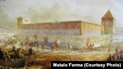 Выстава Замкі ВКЛ, Горадня, Крэўскі замак