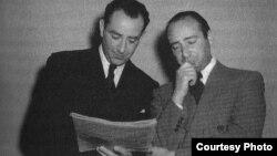 Bronislaw și fratele său, pianistul Jakob Gimpel în 1942 (cf. Dorothy Lamb Crawford, A Windfall of Musicians, Hitler's Émigrés and Exiles in Southern California)