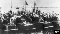 Гражданская война в России. Волжская флотилия красных (1918)
