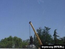 Встановлення пам'ятника Катерині ІІ у Сімферополі