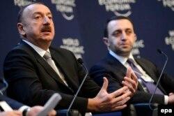 Ильхам Алиев и Ираклий Гарибашвили, 23 января 2014 года