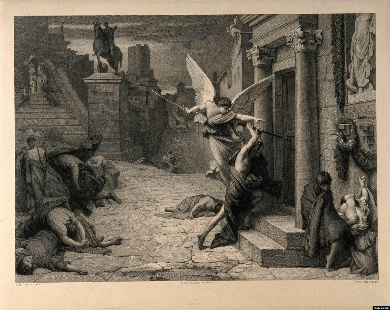 Antonininijeva kuga, Jules-Elie Delaunay