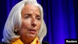 На снимке: исполнительный директор МВФ Кристин Лагард