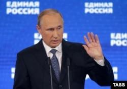 """Владимир Путин на съезде """"Единой России"""", 27 июня 2016 года"""