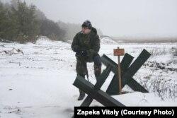 Бійці відправилися у розвідку. Зима 2015-2016