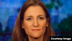 "Chrystia Freeland: ""Some of the institutions we have, like Radio Free Europe, for fighting that kind of [Russian] propaganda have atrophied, and some of our intellectual muscles that we used to use in how we respond to that propaganda have atrophied, too."""