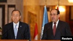 В Багдаде пресс-конференция Пан Ги Муна и Нури аль-Малики