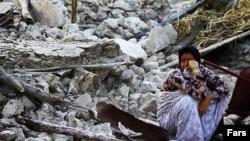 Իրան - Բուշեր նահանգի Շանբե բնակավայրը երկրաշարժից հետո, 9-ը ապրիլի, 2013թ.