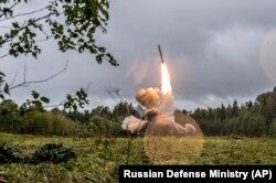 Испытание ракеты. Россия.