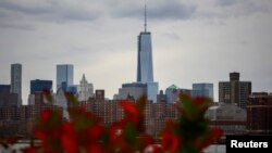 U.S. -- New York's One World Trade Center is seen towering over the lower Manhattan skyline November 12, 2013.
