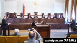 «Կոնգրես-ՀԺԿ» դաշինքի դիմումով լսումները Սահմանադրական դատարանում, Երևան, 27-ը ապրիլի, 2017թ․