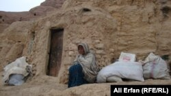 Gulsom, a 34-year-old mother of seven, has been living in the Bamiyan caves for more than five years.