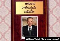 Erdoğan - ironizat de televiziunea germană (Fiooto: TV / ZDF)