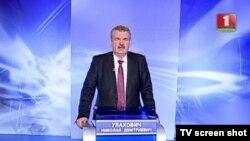 Мікалай Улаховіч падчас выступу на БТ