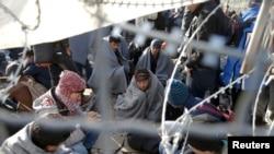 Біженці на грецько-македонському кордоні
