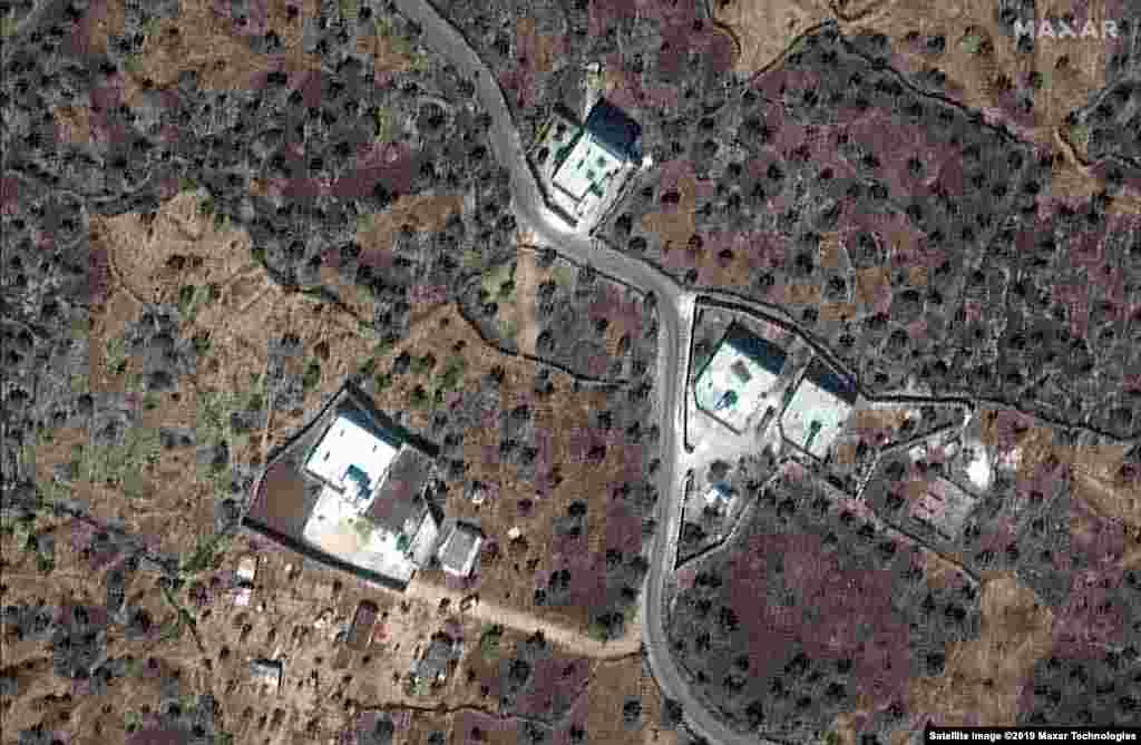 In November 2019, IS militant leader Abu Bakr al-Baghdadi was killed in a U.S. raid on his compound in Syria. Images show the site on September 28, 2019 and November 12, 2019.