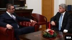 Претседателот на македонија Иванов на средба со новиот лидер на ВМРО-ДПМНЕ Мицковски. 25.12.2017