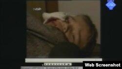 Snimka Muhameda Kapetanovića kako daje izjavu ranjen u bolnici prikazana u sudnici, 31. listopad 2012.
